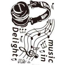 СТИКЕР ЗА СТЕНА MUSIC DELIGHT 50/70СМ