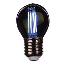 ЛАМПА LED BLUE FILLAMENT G45 4W E28